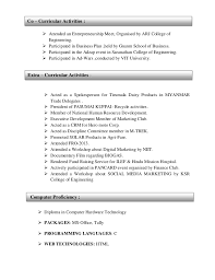 extra curricular in resumes. resume examples for extracurricular activities  ...