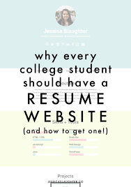 Why Every College Student Should Have A Resume Website Career