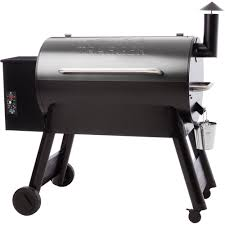 wood pellet grill in silver vein