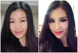 fake eye crease cut crease makeup transformation asian eyes transformation with fake crease
