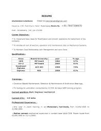 Resume Format For Diploma Mechanical Engineers Pdf Tomyumtumweb Com