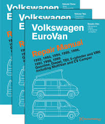 volkswagen eurovan official factory repair manual  volkswagen eurovan official factory repair manual 1992 1993 1994 1995 1996 1997 1998 1999 gasoline diesel tdi 5 cylinder and vr6 includin