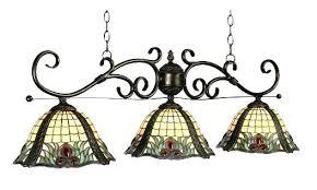 stained glass pool table lighting light custom lights