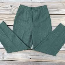 Sag Harbor Women Pant Casual Green Trouser Side Zi