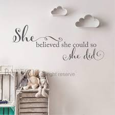 Amazoncom Battoo She Believed She Could So She Did Quote Bedroom