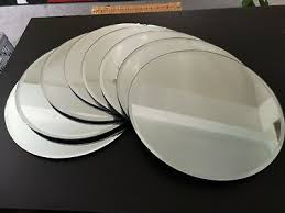 10x wedding table centerpiece round mirror plate glass plate bevelled edge