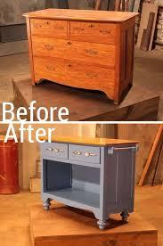 diy kitchen island cart. Unique Diy Turn An Old Dresser Into Useful Kitchen Island With Diy Island Cart