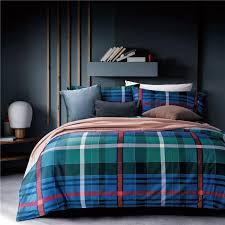 housse de couette egyptian cotton plaid bedding sets boho duvet cover bed sheet pillowcase colchas para cama full size bedding sets on king duvet