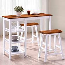 harper bright designs ta series dining room 3 piece table stool set counter height with storage