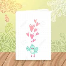 birthday postcard template cute cartoon happy birthday postcard template with a bird and