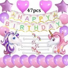 Purple Happy Birthday Banner Cebelle Unicorn Birthday Party Supplies Decorations Favors Purple