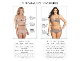Size Chart Sleepwear Felina