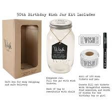 top shelf 50th birthday wish jar unique and thoughtful gift ideas for friends and family memorable gift for mom dad grandma and grandpa kit es