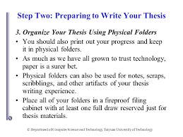 parts of dissertation chapters