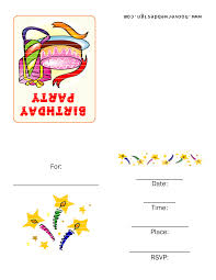 free birthday invitation template for kids birthday invitation templates free gangcraft net
