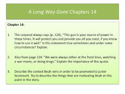 A Long Way Gone Quotes New A Long Waygoneunitpowerpointslides