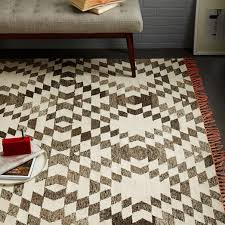 palmette chenille wool kilim rug iron west elm
