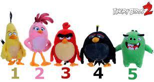 Angry Birds 2 Plüsch Plüschfiguren ca. 22cm chuck bomb stella leonard angry  Bird