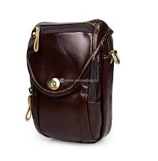 home leather waist pack