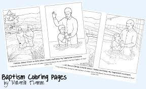 Small Picture Baptism Coloring Pages