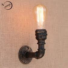 Loft Retro Iron Water Pipe Vintage Wall Lamp Bedside With Edisonled Bulb E27 110v 220v Lights For Restaurant Cafe Night Light