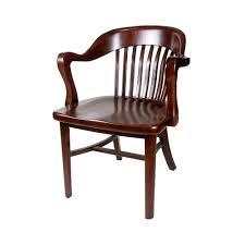 brenn antique wood restaurant armchair