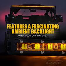 Xprite Light Bar Xprite 14 Inch Single Row Led Light Bar Amber Backlight For