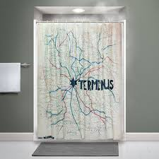 geeky shower curtains. Shower Curtain, The Walking Dead Style Geeky Curtains I
