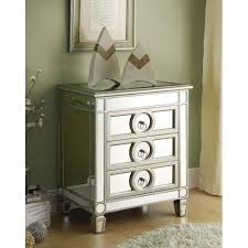 Overstock Bedroom Furniture Mirrored 3 Drawer Accent Table Free Shipping Today Overstock