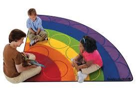 rainbow rows 6 corner rug