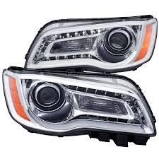2014 Chrysler 300 Lights Anzo 121494 Anzo Usa Chrysler 300 Projector Headlights W Plank Style Design Chrome 2011 2014