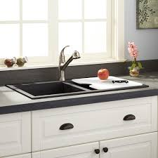 Sink With Cutting Board 34 Townsend Double Bowl Drop In Granite Composite Sink Black
