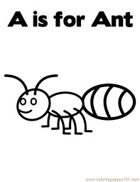 Small Picture A is for ant Coloring Page Free Ants Coloring Pages