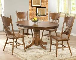 furniture oak dining table and chairs antique pedestal value leaves for claw foot round fu