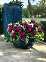 artificial outdoor fake flowers flower arrangements in pots landscaping with