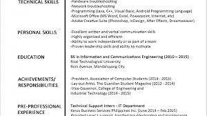 Pretty Jobstreet Resume Format Example Photos Example Resume