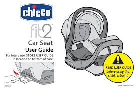 product manual the chicco fit2 manualzz
