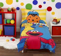 sesame street 4 piece toddler bedding