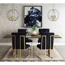 furniture kitchen dining room chairs akiko black velvet chairs set of 2