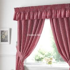 Red Kitchen Curtain Sets Kitchen Curtains Red Gingham Cliff Kitchen