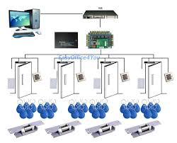diy 4 door tcp ip network rfid access control board kit set 110v rfid access control k2000 manual at Rfid Access Control Wiring Diagram