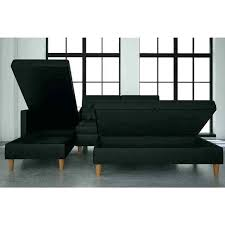 chair ottoman set. Futon Chair And Ottoman Black Faux Leather Storage Sectional . Set
