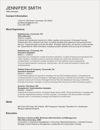 Sample Resume Templates For College Students Fresh Resume Example