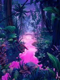ArtStation - Neon Jungle, Gökhan ALTAY