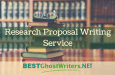 Best Research Proposal Ghost Writing Service