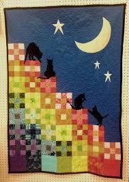 592 best Cat Quilts images on Pinterest | Quilt block patterns ... & Catscape lap-sized quilt - (rainbow) by Crimson Creates Adamdwight.com
