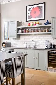 Vintage And Simple Open Kitchen Shelving
