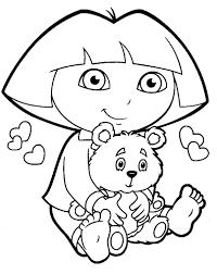Coloriage Dora A Imprimer Gratuit
