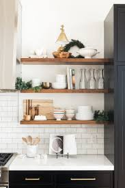 do you have what it takes to live with open kitchen shelving
