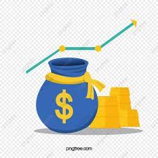 Vector Flat Creative Funds Rising Chart Rise Creative